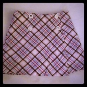 Gymboree girls plaid skirt, size 4